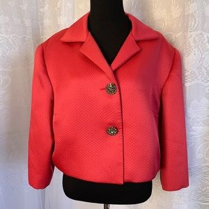 TALBOTS Pink Two Button Cropped Blazer Size 20